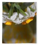 Yellow And White Fleece Blanket