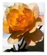 Yellow And White Rose Fleece Blanket