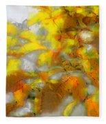 Yellow Autumn Fleece Blanket