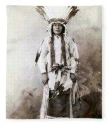 Yellow Badger 1880 Fleece Blanket