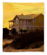 Yellow Beauty At Isle Of Palms Fleece Blanket
