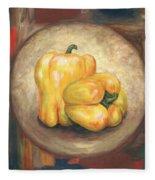 Yellow Bell Peppers Fleece Blanket