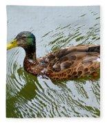 Yellow Billed Duck Fleece Blanket