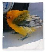 Yellow Bird  Fleece Blanket