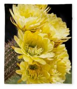 Yellow Bouquet Fleece Blanket