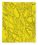 Yellow Branches Fleece Blanket
