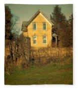 Yellow Brick Farmhouse Fleece Blanket