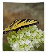 Yellow Butterfly 2 Fleece Blanket