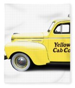 Yellow Cab Square Fleece Blanket