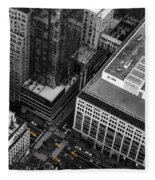 Yellow Cabs - Bird's Eye View Fleece Blanket