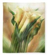 Yellow Callas Fleece Blanket