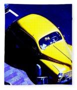 Yellow Car Fleece Blanket