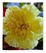 Yellow Carnation Delight Fleece Blanket