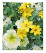 Yellow Cascade Fleece Blanket