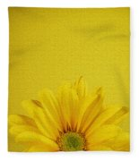 Yellow Chrysanthemum Fleece Blanket