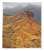 Yellow Colored Rock Along The Apache Trail Fleece Blanket