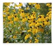 Yellow Cone Flowers Fleece Blanket