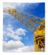 Yellow Crane And Sky Fleece Blanket