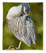 Yellow Crowned Night Heron Fleece Blanket