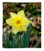 Yellow Daffodil Fleece Blanket