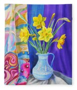 Yellow Daffodils Fleece Blanket