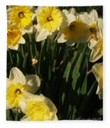 Yellow Day Lilies Fleece Blanket