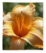 Yellow Day Lily Fleece Blanket