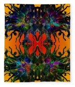 Yellow Dragon Power Fleece Blanket