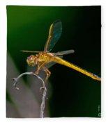 Yellow Dragonfly Fleece Blanket