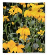 Yellow Echinacea Fleece Blanket