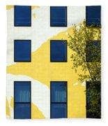 Yellow Facade In Berlin Fleece Blanket
