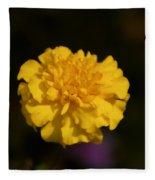 Yellow Fall Flower Fleece Blanket