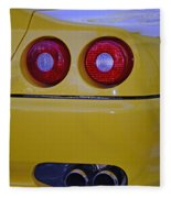 Yellow Ferrari Tail Lights Fleece Blanket