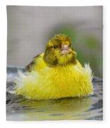 Yellow Finch Fleece Blanket