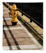 Yellow Fire Hydrant - Pittsfield - Massachusetts Fleece Blanket