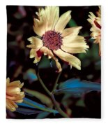 Yellow Flower Viii Fleece Blanket