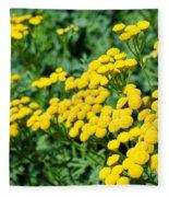 Yellow Flowers 3 Fleece Blanket