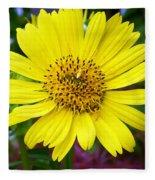 Yellow Glory Fleece Blanket