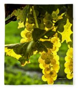 Yellow Grapes In Sunshine Fleece Blanket