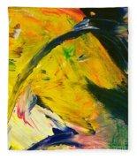 Yellow Horse Fleece Blanket
