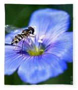 Blue Flax Flower Fleece Blanket