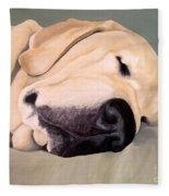 Yellow Lab - A Head Pillow Is Nice Fleece Blanket