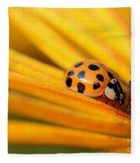 Yellow Lady - 1 Fleece Blanket