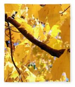 Yellow Leaves Fleece Blanket