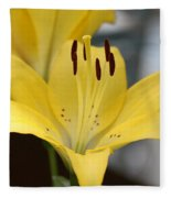 Yellow Lilly Fleece Blanket