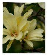 Yellow Magnolia Fleece Blanket
