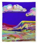 Yellow Mesa Fleece Blanket