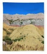 Yellow Mounds Badlands National Park Fleece Blanket