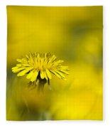 Yellow On Yellow Dandelion Fleece Blanket