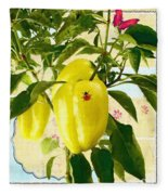Yellow Pepper Fleece Blanket